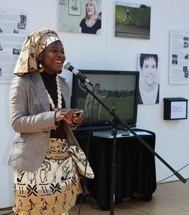 Agnes in African dress Opening exhibition 