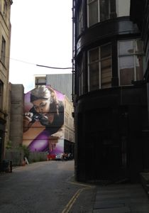 mural in Mitchell Lane