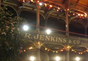 a stall holder sign: R Jenkins & Co