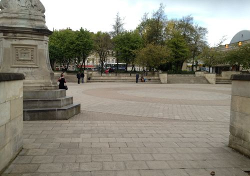 Bristo Square after the Fringe has gone