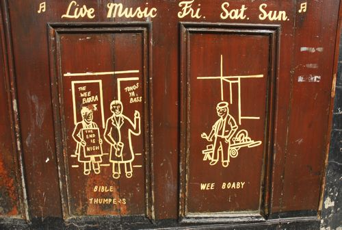 picture of graffiti cartoons for live music at the Barras