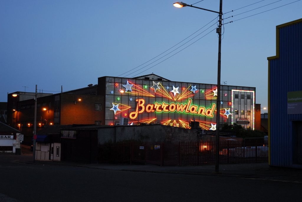 The stars of the Barrowland beginning to shine at twilight