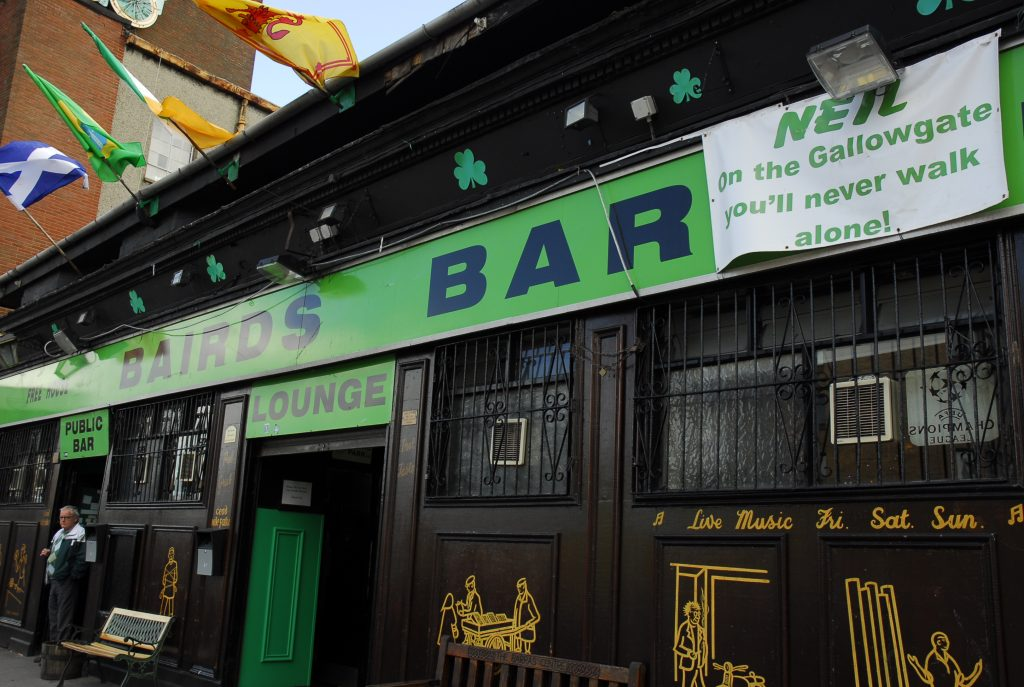 Image of the old Bairds Bar