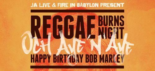 reggae burns flyer