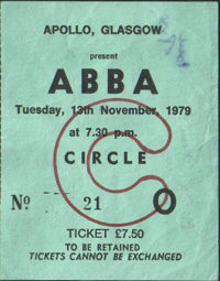 Abba ticket stub