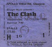 Clash ticket stub