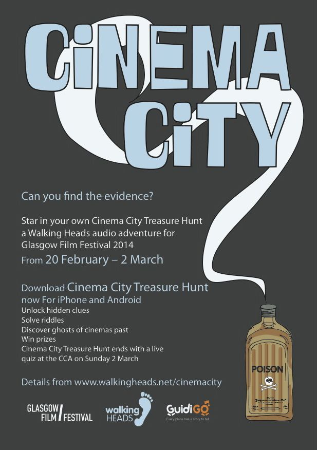 Encouraging team spirit. Cinema City Treasure Hunt flyer
