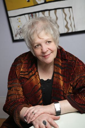 Liz Lochhead image by Norman McBeath – a voice at The Arches on Glasgow Music Tour