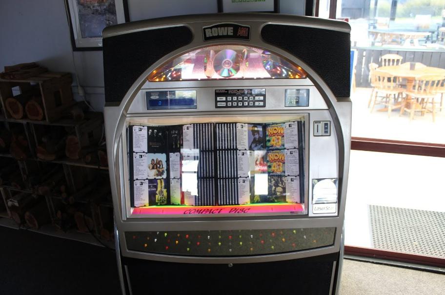 Close up of shiny 'old skool' jukebox