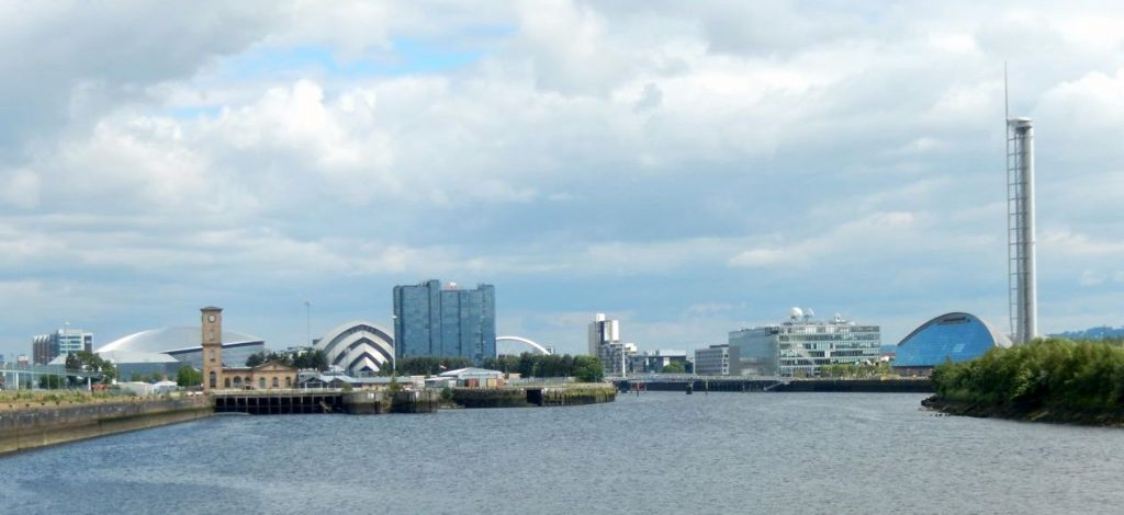 River Clyde Upstream from the Riverside Museum by Ronnie Scott