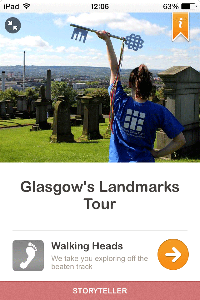 Glasgow's Landmarks Tour Guidigo Cover