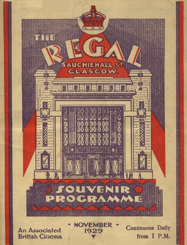 Art Deco Poster of old Regal Cinema, Sauchiehall Street