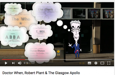 clip from Doctor When animation outside Glasgow Apollo