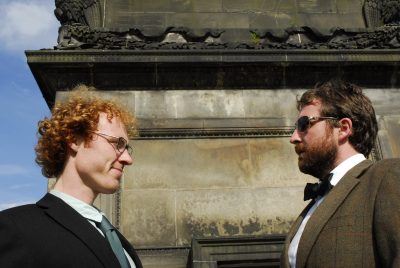 Harry Gooch and Jamie MacDonald at the foot of Henry Dundas