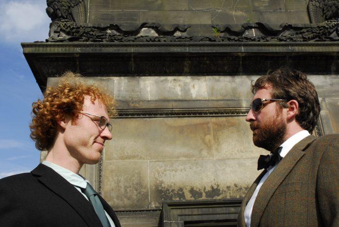 Harry Gooch and Jamie MacDonald at the foot of Henry Dundas