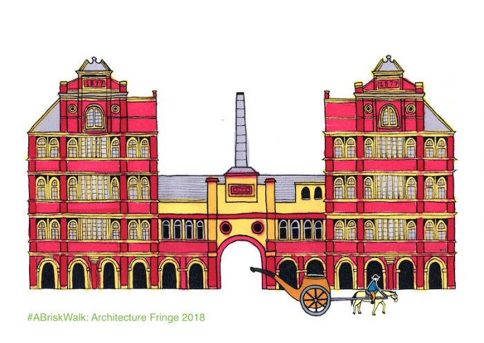 Clay Pipe Factory drawing from #ABriskWalk audio tour now part of Architecture Fringe 2018