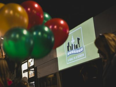 A Wall Is A Screen, the Hamburge-based collective guerilla film screening after dark in Glasgow during the short film festival 2015
