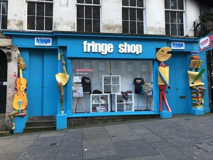 Fringe shop, starting point of the Edinburgh Comedy tour launched in very different times ten years ago
